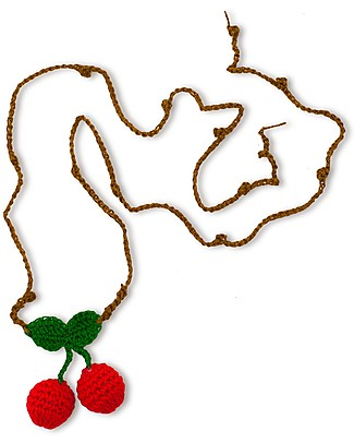Numero 74 Collana Uncinetto Ciliegia - Regalino perfetto per le feste Regalini