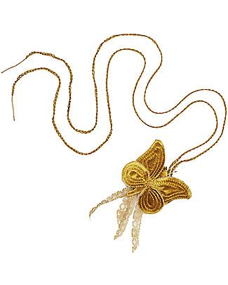 Numero 74 Collana Uncinetto Farfalla Velluto - Oro - Regalino perfetto per le feste Regalini