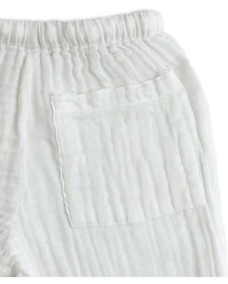Numero 74 Completo Casacca e Pantaloni Dan, Bianco - 100% cotone (1/4 anni) Tutine Lunghe Senza Piedi