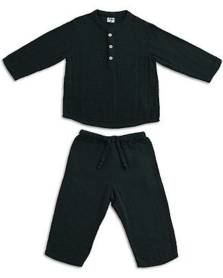 Numero 74 Completo Casacca e Pantaloni Dan, Grigio Scuro - 100% cotone (5/6 anni) Cerimonia