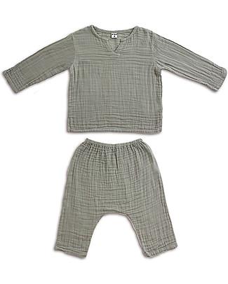Numero 74 Completo Casacca e Pantaloni Zac, Argento - 100% cotone Camicie