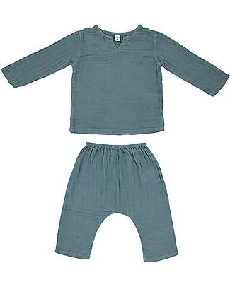 Numero 74 Completo Casacca e Pantaloni Zac, Azzurro Ghiaccio - 100% cotone Cerimonia