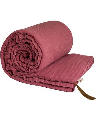 Numero 74 Coperta Invernale Rosa 110 x 160 - Doppia Mussola di Cotone Coperte