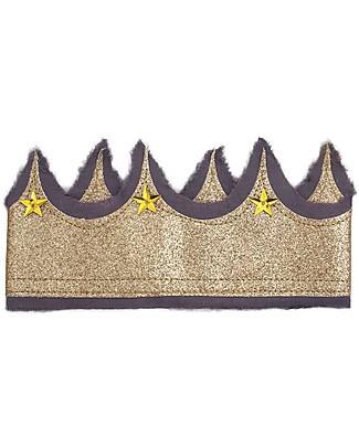 Numero 74 Corona Glitter - Lilla e Oro Travestimenti