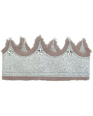 Numero 74 Corona Glitter - Tulle Rosa Antico e Argento Regalini