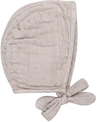 Numero 74 Cuffietta Bebè Lou, Cipria (3-6 e 9-12 mesi) -100% cotone bio  Cappelli
