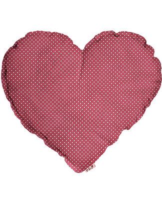 Numero 74 Cuscino Cuore Medio - Rosa con Pois Bianchi Cuscini Arredo