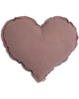 Numero 74 Cuscino Cuore Medium - Rosa Antico Cuscini Arredo