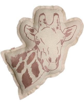 Numero 74 Cuscino Giraffa - Ricamo Rosa Antico Cuscini Arredo