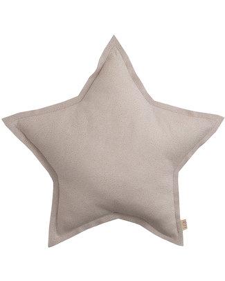 Numero 74 Cuscino Stella in Tessuto Glitterato, Mini - Cipria Cuscini Arredo