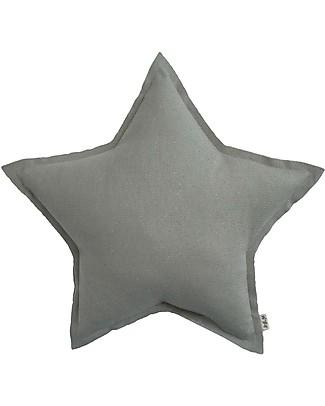 Numero 74 Cuscino Stella in Tessuto Glitterato, Small - Argento null