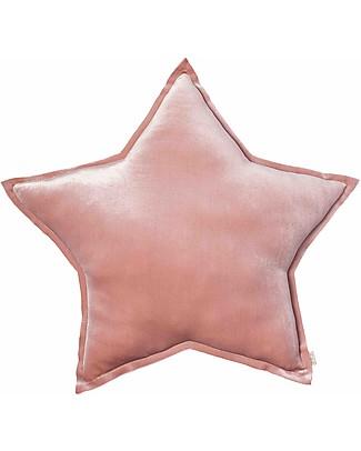 Numero 74 Cuscino Stella Medium in Velluto, Rosa Antico - S007 Cuscini Arredo
