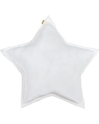 Numero 74 Cuscino Stella Small in Velluto, Bianco Cuscini Arredo