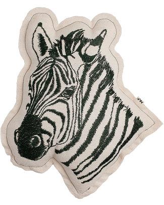 Numero 74 Cuscino Zebra - Ricamo Grigio Scuro Cuscini Arredo
