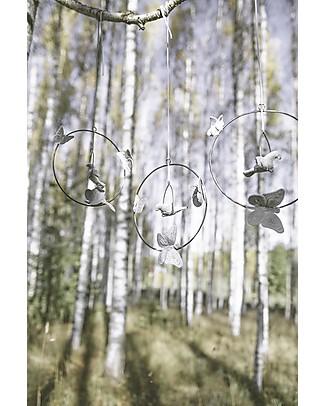 Numero 74 Decorazione da Appendere Bohemian Swing, Argento Decorazioni