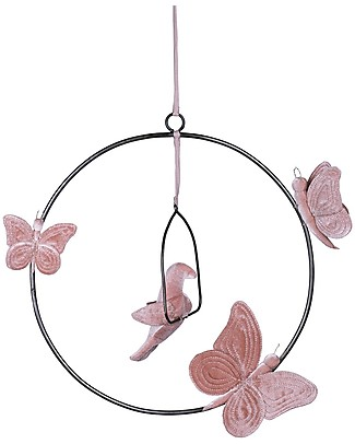 Numero 74 Decorazione da Appendere Bohemian Swing, Rosa Antico Decorazioni