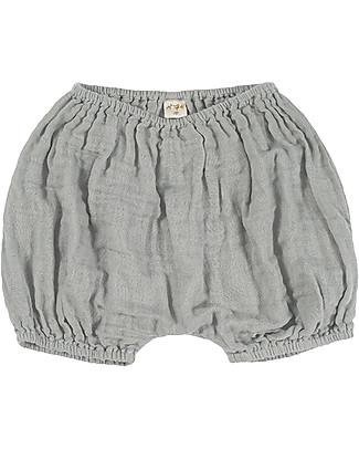 Numero 74 Emi Pantalone a Palloncino Copripannolino, Argento - Cotone Bio (9-12 mesi) Pantaloni Corti