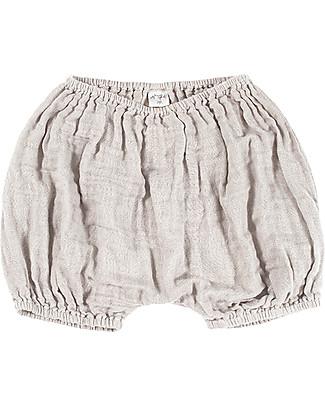 Numero 74 Emi Pantalone a Palloncino Copripannolino, Cipria - Cotone Bio (3-6 mesi) Pantaloni Corti