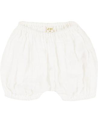 Numero 74 Emi Pantalone a Palloncino Copripannolino, Natural - Cotone Bio (9-12 mesi) Pantaloni Corti