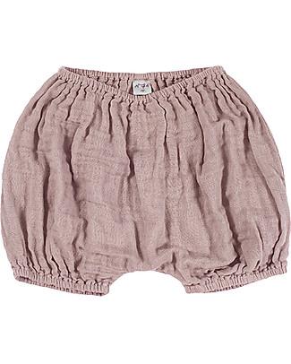 Numero 74  Emi Pantalone a Palloncino Copripannolino, Rosa Antico - Cotone Bio (3-6 mesi) Pantaloni Corti