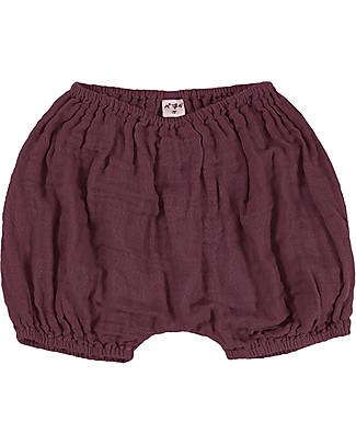 Numero 74 Emi Pantalone a Palloncino Copripannolino, Rosso - Cotone Bio (3-6 mesi) Pantaloni Corti