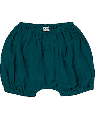 Numero 74 Emi Pantalone Palloncino Bloomer - Verde Petrolio Pantaloni Corti