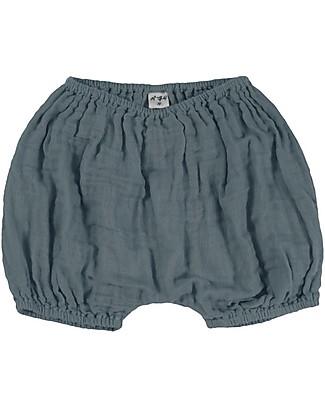 Numero 74 Emi Pantalone Palloncino Copripannolino Bloomer - Blu Ghiaccio Pantaloni Corti