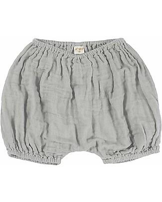 Numero 74 Emi Pantalone Palloncino Copripannolino Bloomer - Grigio Argento Pantaloni Corti