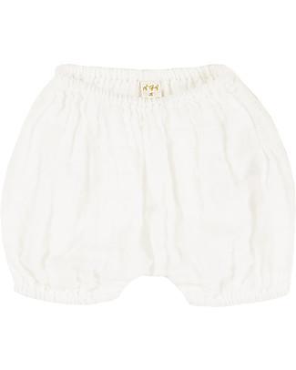 Numero 74 Emi Pantalone Palloncino Copripannolino Bloomer - Naturale Pantaloni Corti