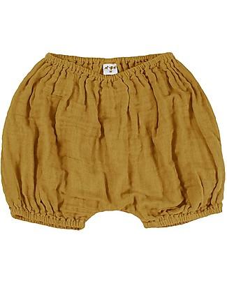 Numero 74 Emi Pantalone Palloncino Copripannolino Bloomer - Oro Pantaloni Corti