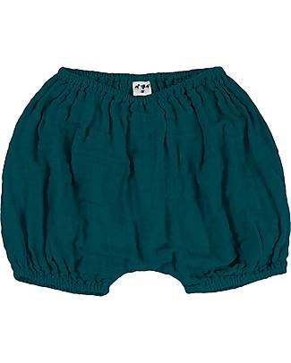 Numero 74 Emi Pantalone Palloncino Copripannolino Bloomer - Verde Petrolio Pantaloni Corti