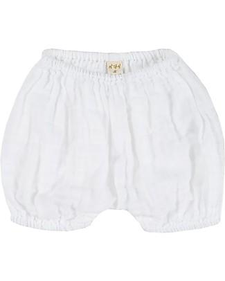 Numero 74 Emi Pantalone Palloncino Copripannolino Bloomer - White Pantaloni Corti