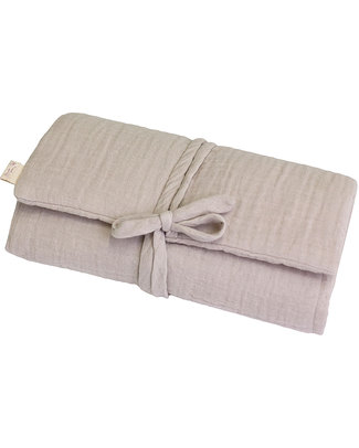 Numero 74 Fasciatoio Portatile - Cipria - 100% Mussola di Cotone Fasciatoi Da Viaggio