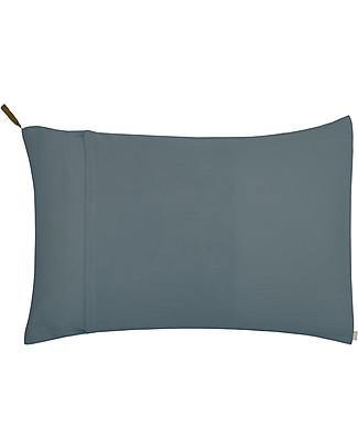 Numero 74 Federa Cuscino 50x75 cm, Blu Ghiaccio - 100% cotone bio Copripiumino e Federe