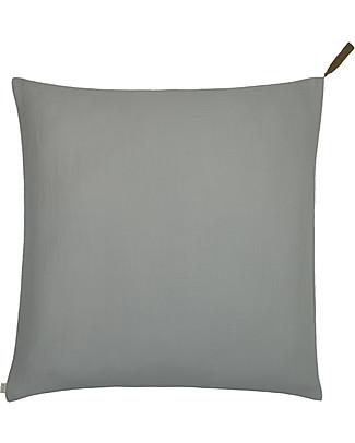 Numero 74 Federa Cuscino Quadrata 65x65 cm, Argento - 100% cotone bio Copripiumino e Federe