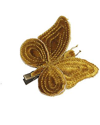 Numero 74 Fermacapelli Farfalla Velluto Oro - Regalino perfetto per le feste!  Regalini