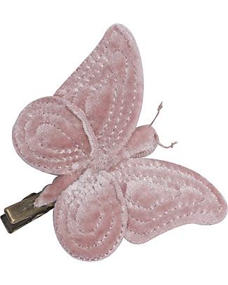 Numero 74 Fermacapelli Farfalla Velluto - Rosa - Regalino perfetto per le feste!  Regalini