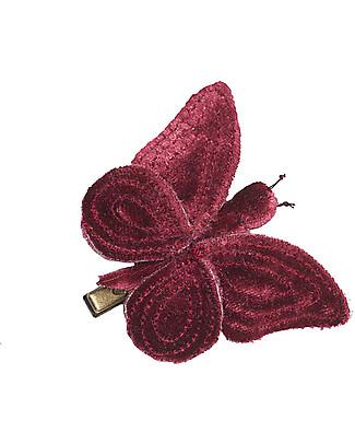 Numero 74 Fermacapelli Farfalla Velluto - Rosso - Regalino perfetto per le feste!  Regalini