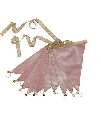 Numero 74 Festone Bandierine Velluto Rosa - 2,5 Metri - Nuova Bohemian Collection Festoni