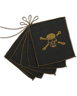 Numero 74 Festone Pirata - Grigio Scuro e Oro - 2,5 m null
