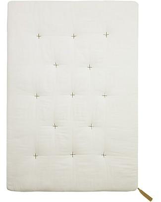 Numero 74 Futon 75x110 cm - Cotone - Bianco e Ricamo Oro  Materassi