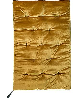 Numero 74 Futon - 75x110 cm - Velluto - Oro con Ricamo - Nuova Bohemian Collection Materassi