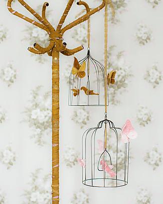 Numero 74 Gabbietta Decorativa Bohemian in Metallo - Media - Rosa Antico #S007 - Edizione Limitata Decorazioni