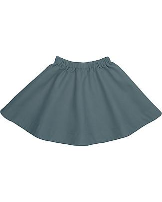 Numero 74 Gonna Bimba Julia, Blu Ghiaccio (5-6 anni) - 100% tela di cotone bio Gonne