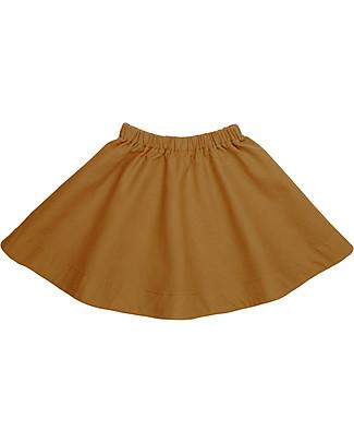 Numero 74 Gonna Bimba Julia, Oro (5-6 anni) - 100% tela di cotone bio Gonne