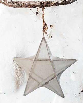 Numero 74 Lampada Stella Small 30 x 30 cm - Argento - 100% Cotone Lampade Comodino