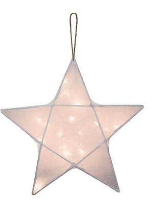 Numero 74 Lampada Stella Small 30 x 30 cm - Bianco - 100% Cotone Lampade Comodino