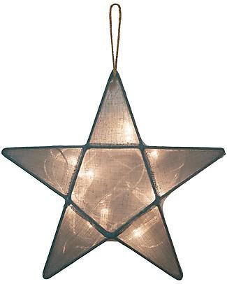 Numero 74 Lampada Stella Small 30 x 30 cm - Blu ghiaccio - 100% Cotone Lampade Comodino