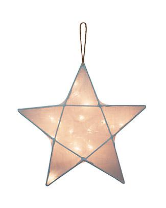 Numero 74 Lampada Stella Small 30 x 30 cm - Celeste - 100% Cotone Lampade Comodino