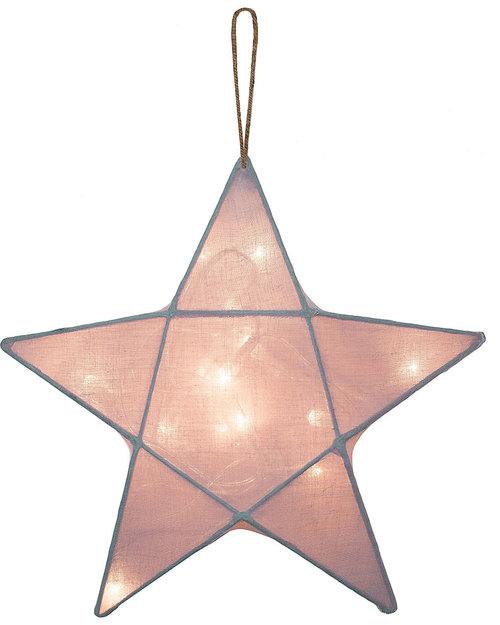 Numero 74 Lampada Stella Small 30 x 30 cm - Rosa Antico - 100% Cotone Lampade Comodino
